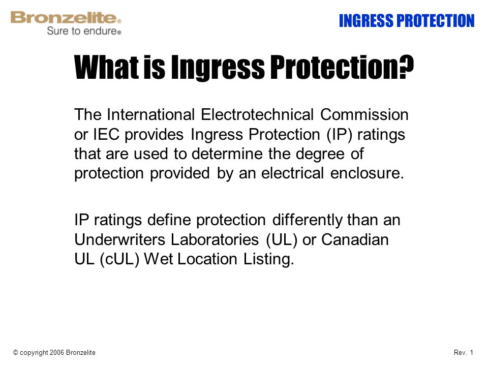 What is Ingress Protection