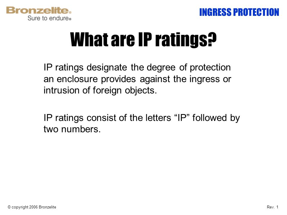 What are IP ratings INGRESS PROTECTION