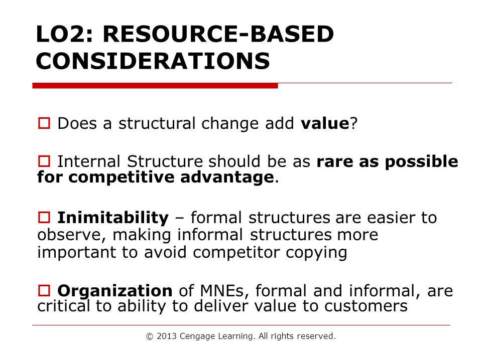 LO2: RESOURCE-BASED CONSIDERATIONS