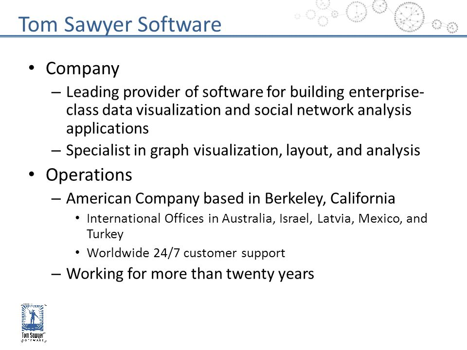Tom Sawyer Software Company Operations