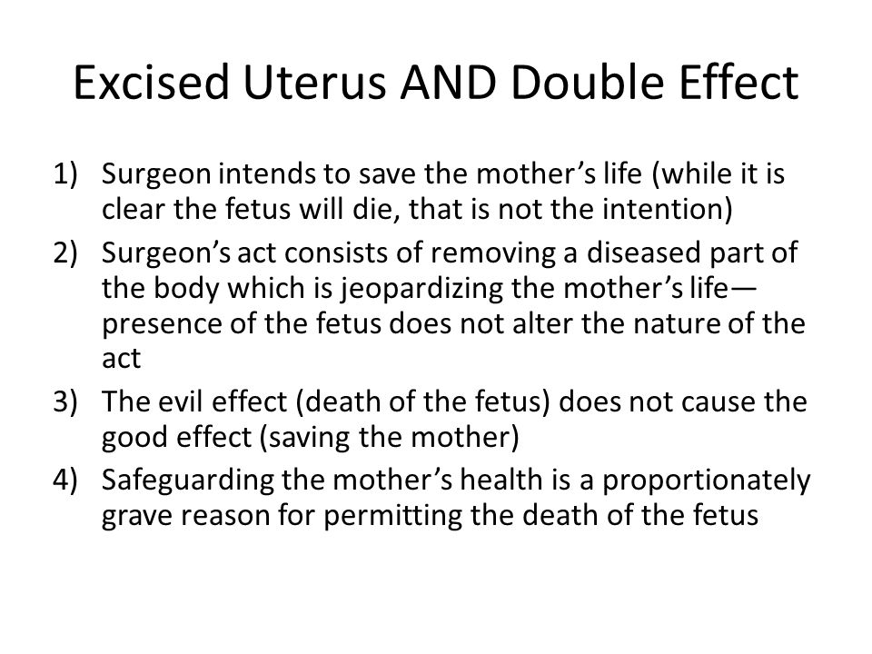 Excised Uterus AND Double Effect