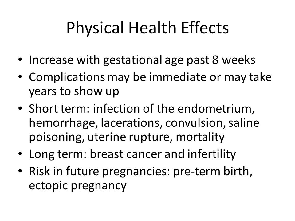 Physical Health Effects