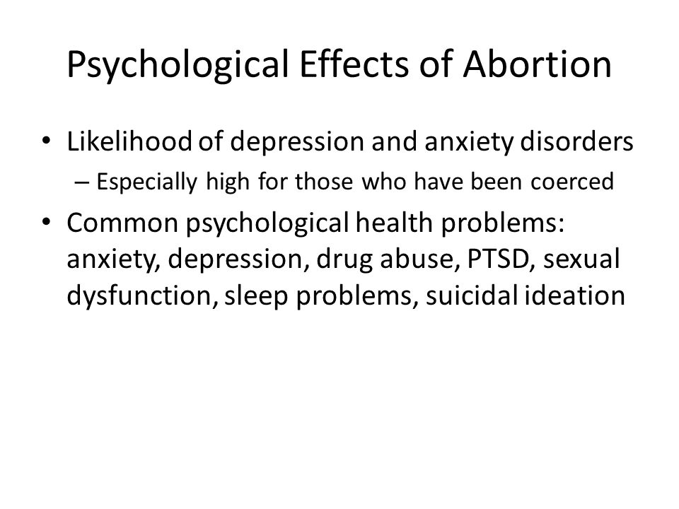 Psychological Effects of Abortion
