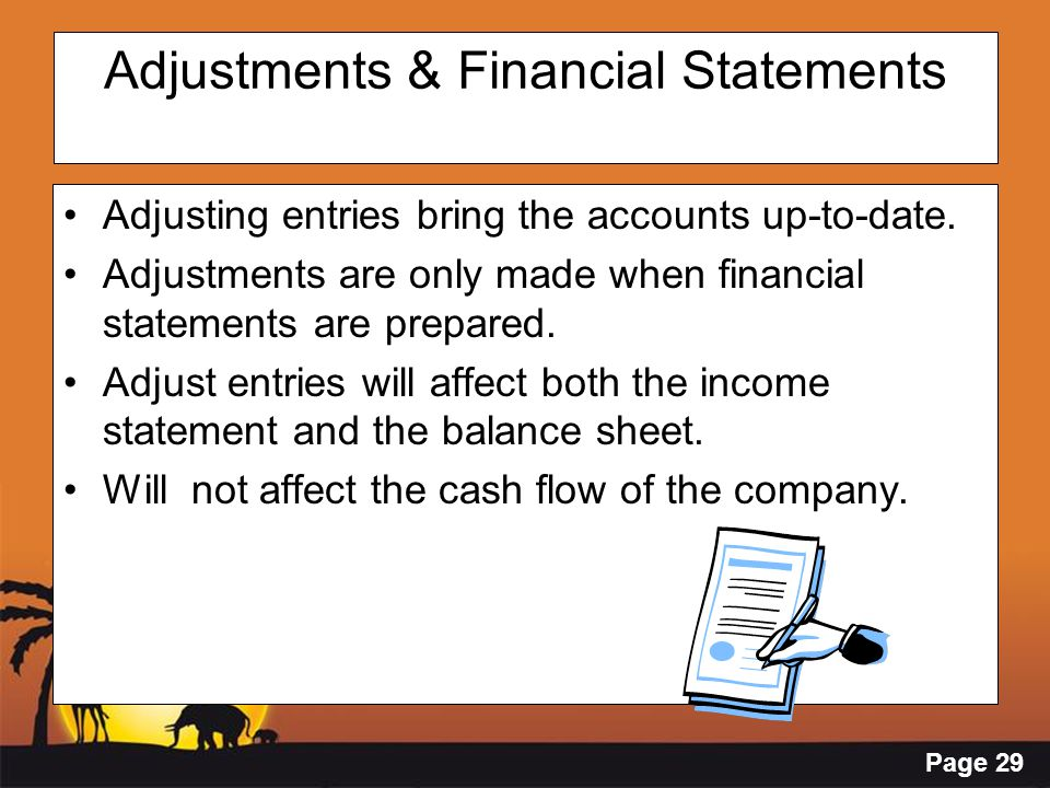 Adjustments & Financial Statements