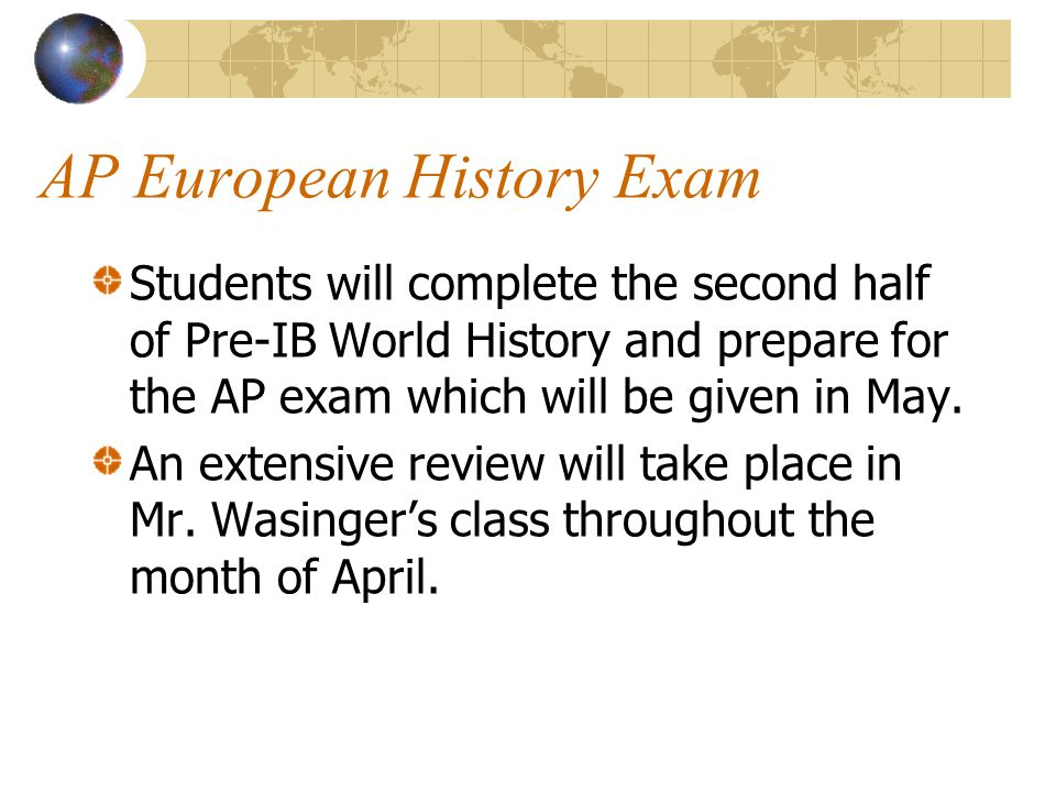 AP European History Exam