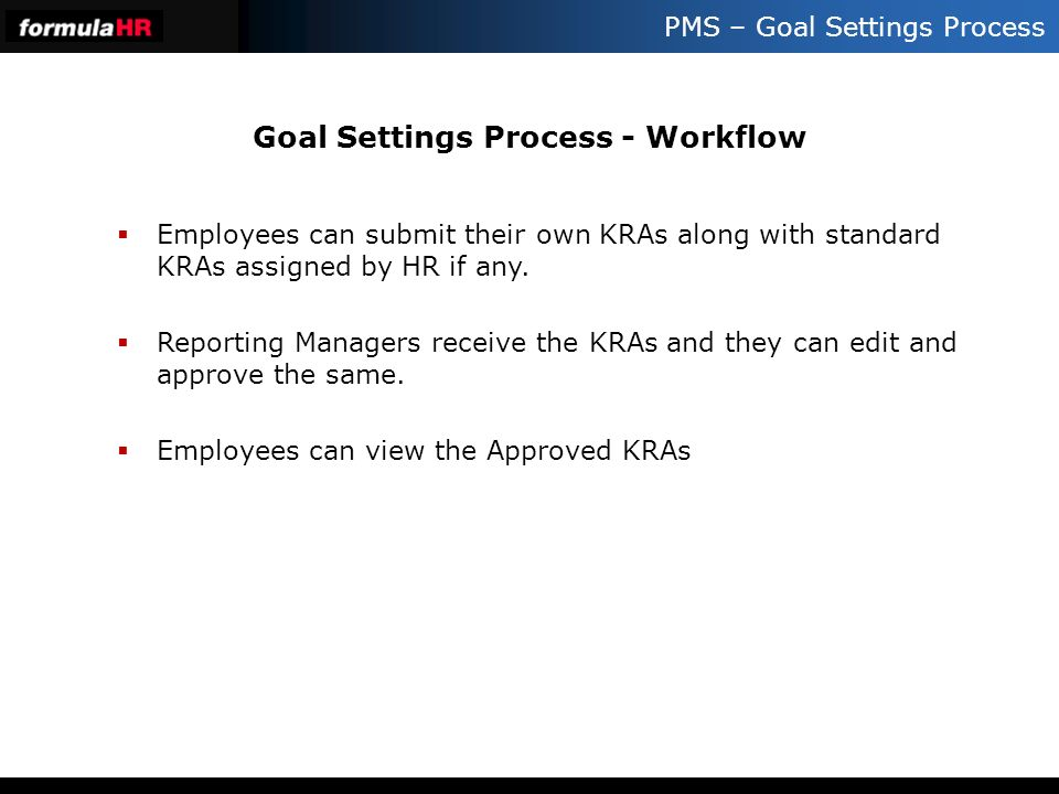 Goal Settings Process - Workflow