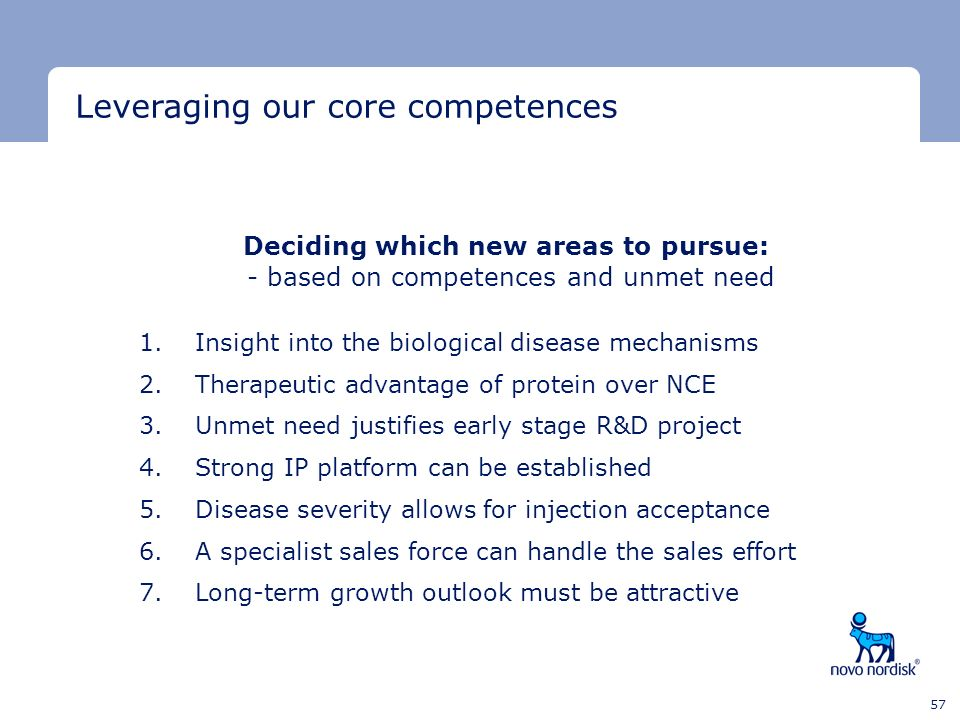 Leveraging our core competences