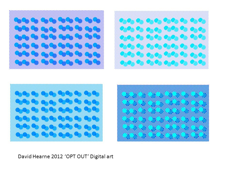 David Hearne 2012 'OPT OUT' Digital art