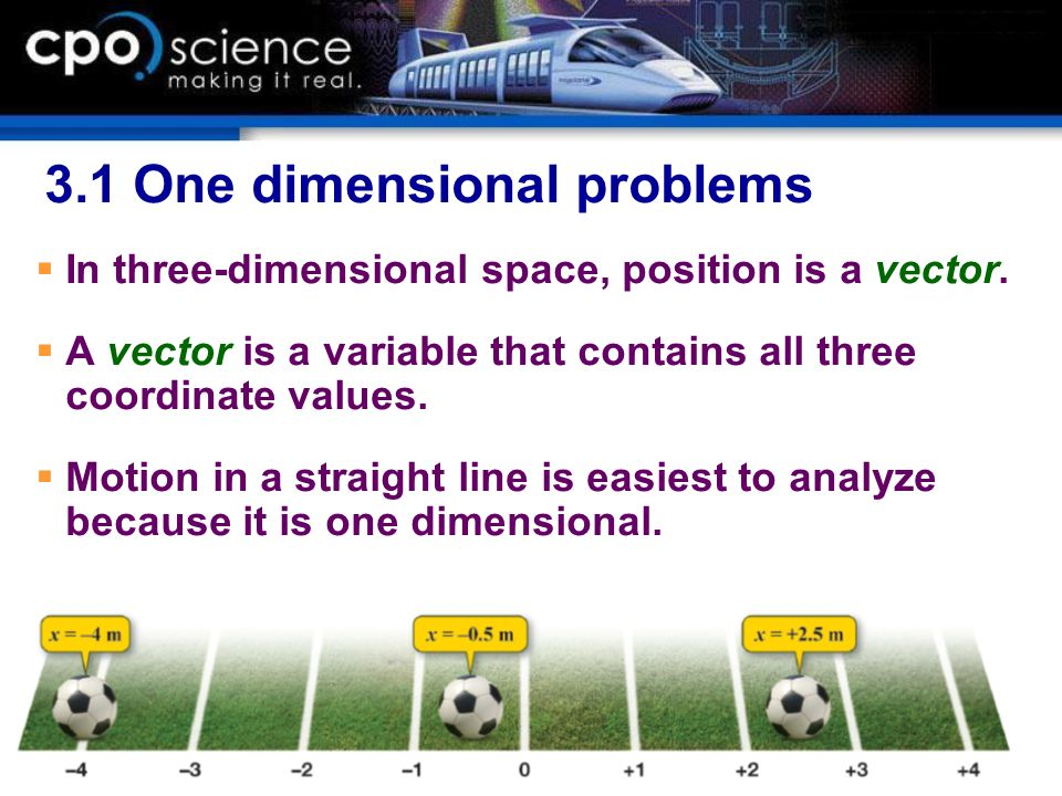 3.1 One dimensional problems