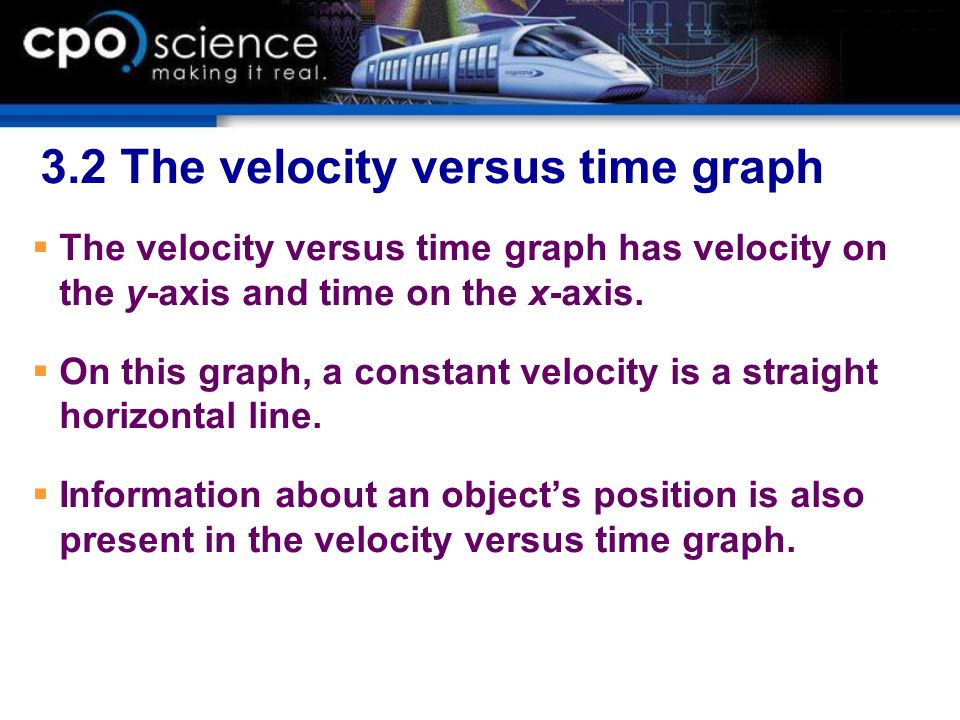 3.2 The velocity versus time graph