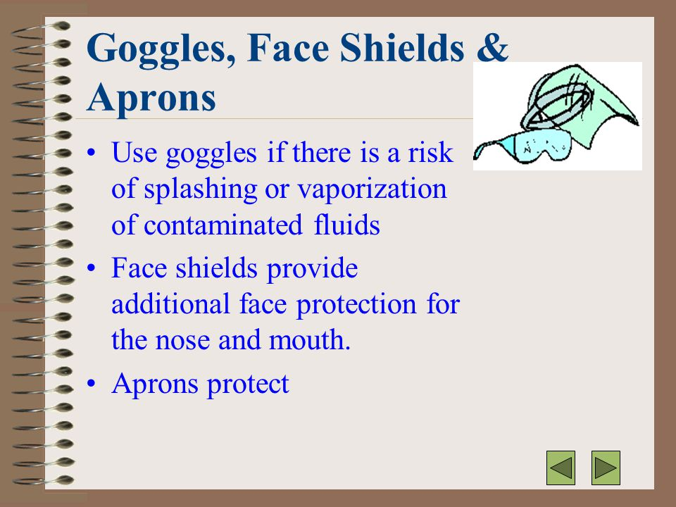 Goggles, Face Shields & Aprons
