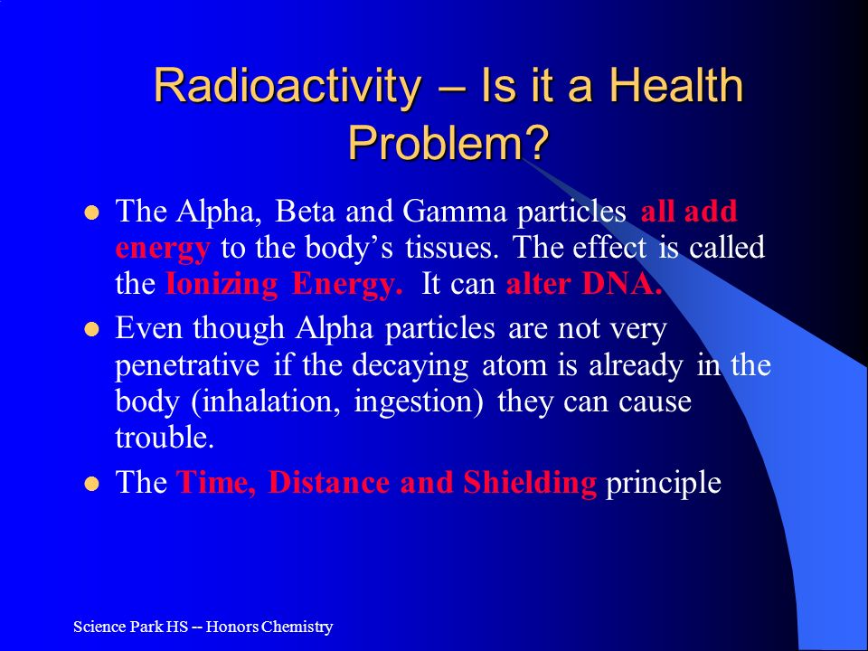 Radioactivity – Is it a Health Problem