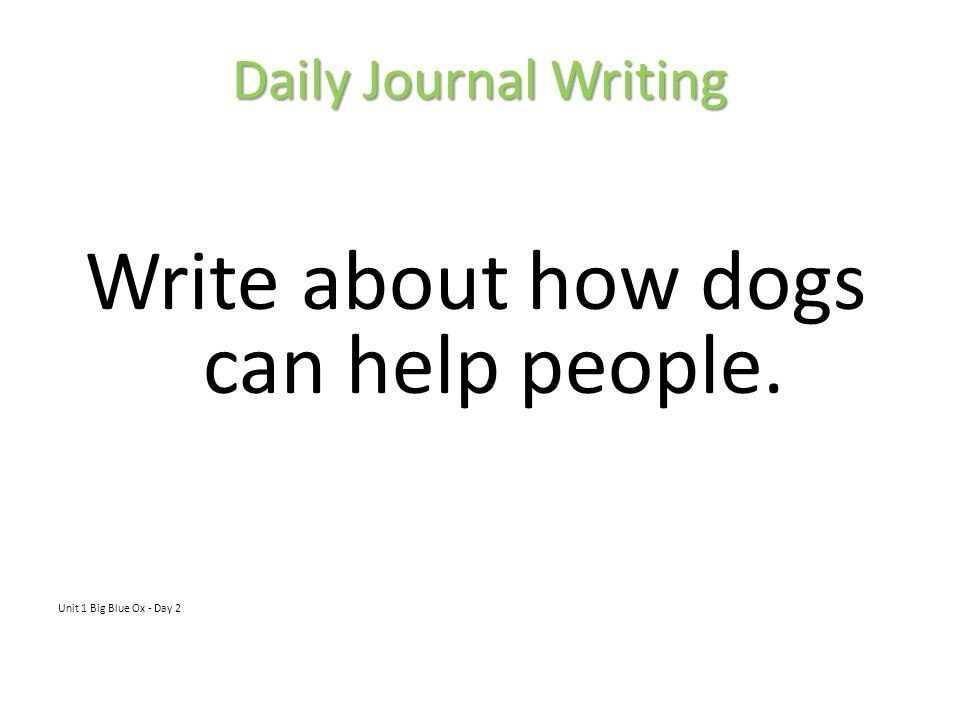 Write about how dogs can help people.