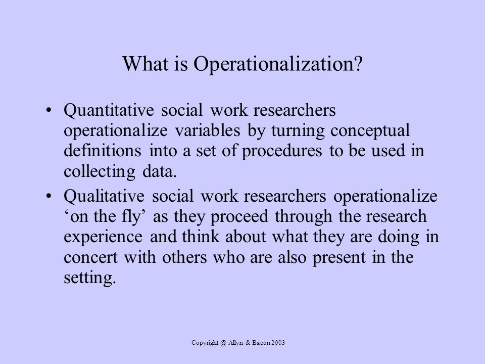 What is Operationalization