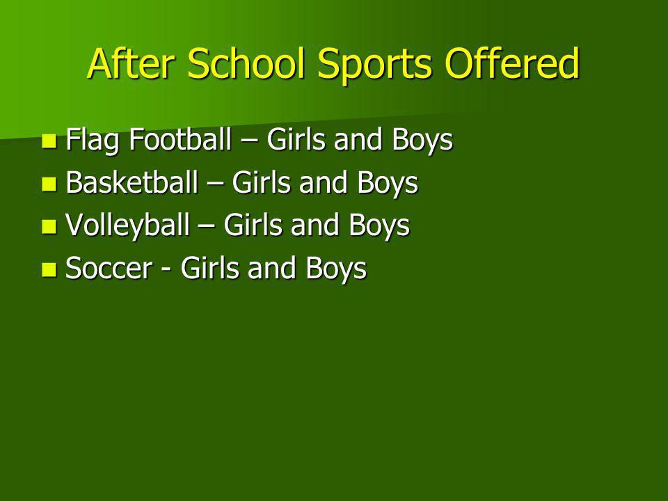 After School Sports Offered