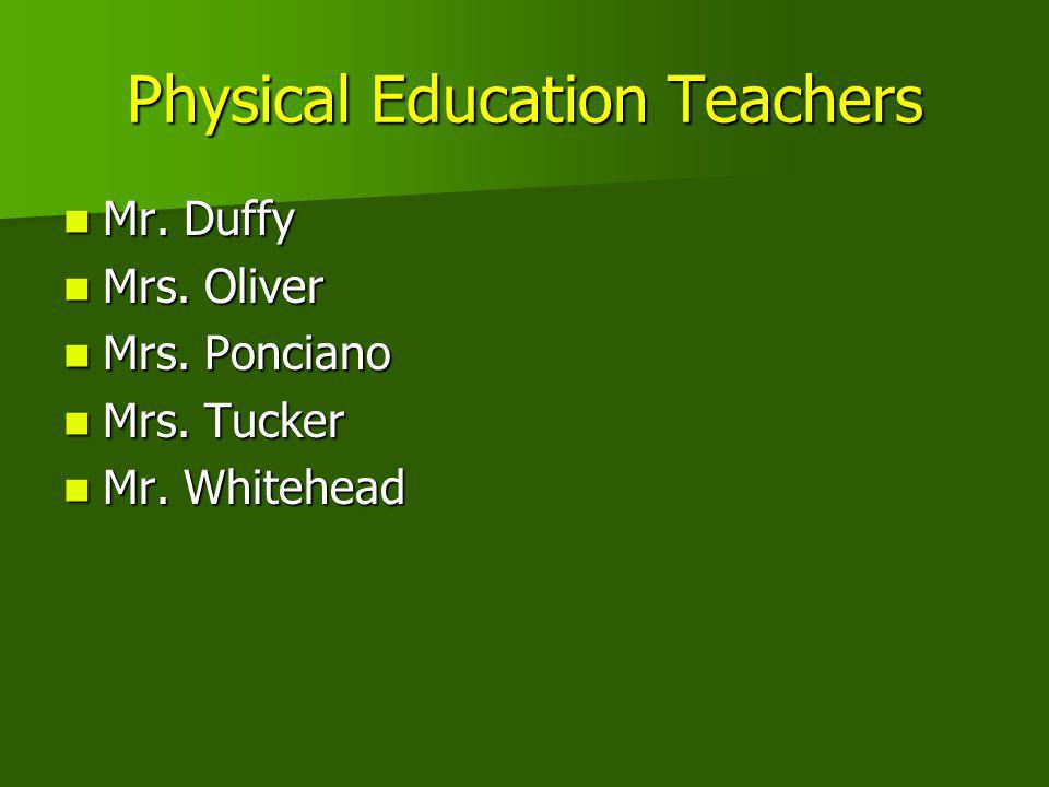 Physical Education Teachers