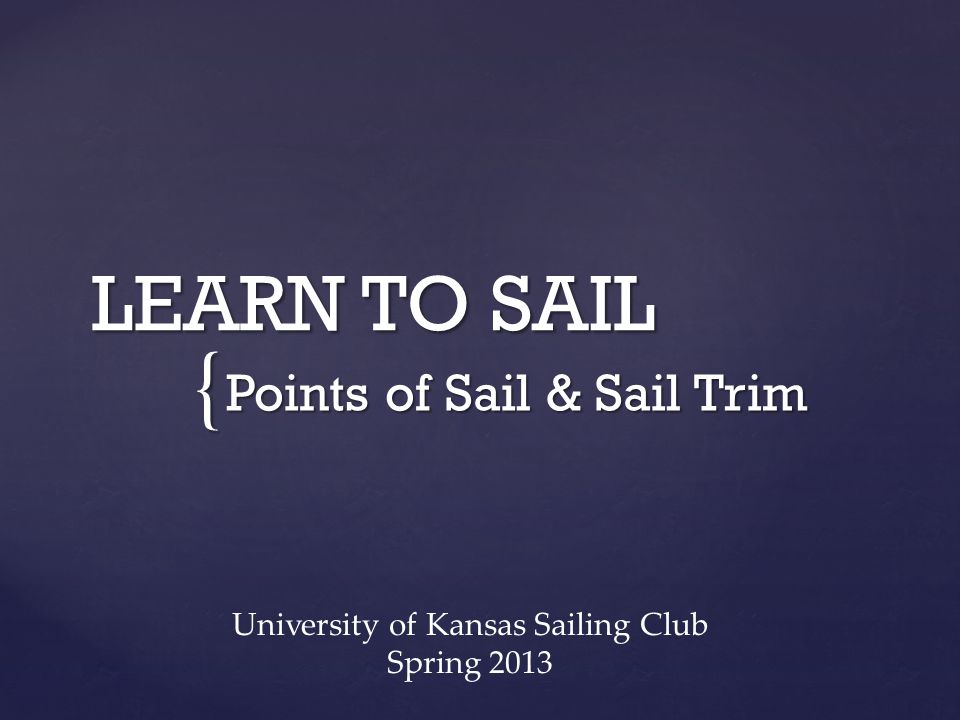 Points of Sail & Sail Trim
