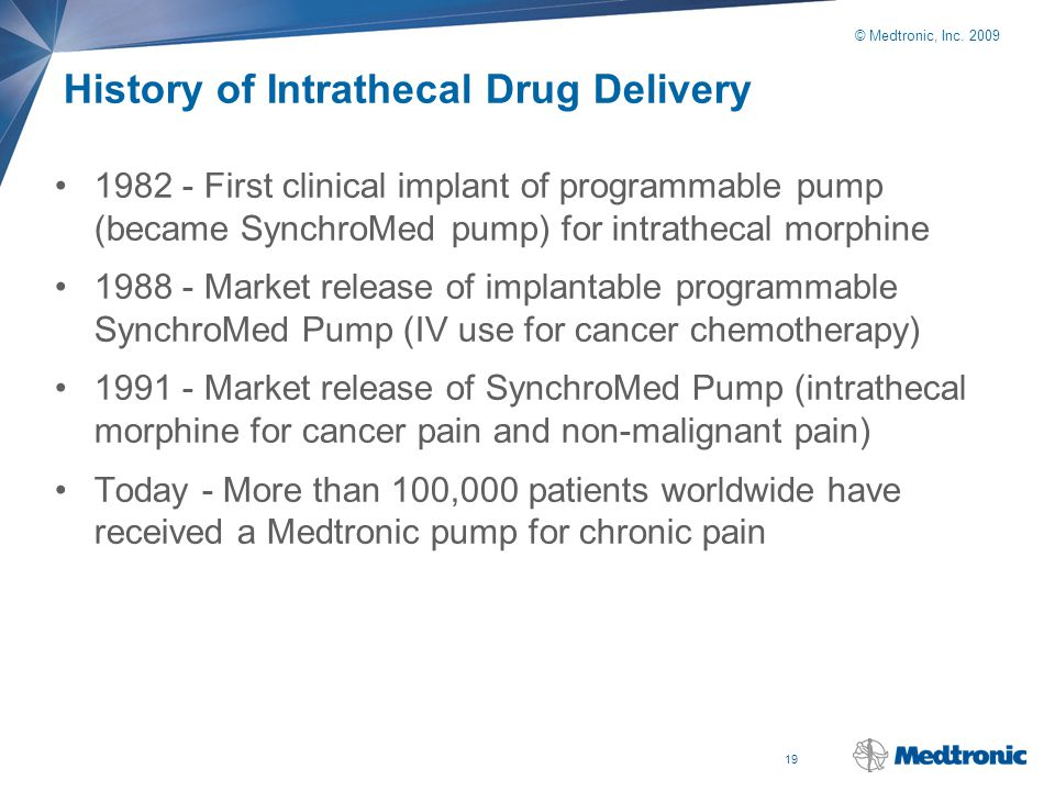 History of Intrathecal Drug Delivery