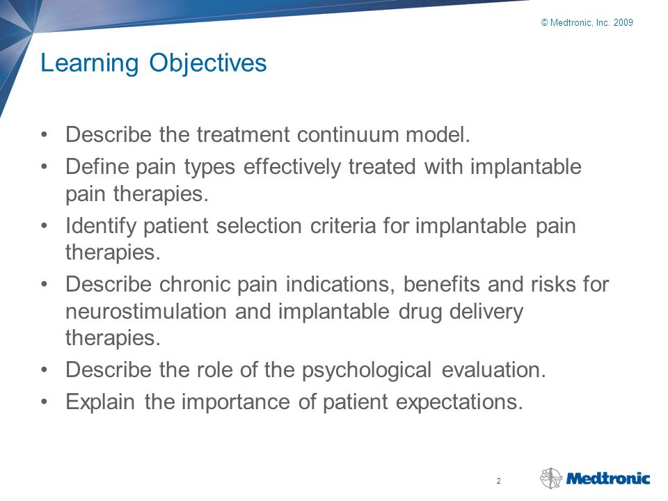 Learning Objectives Describe the treatment continuum model.