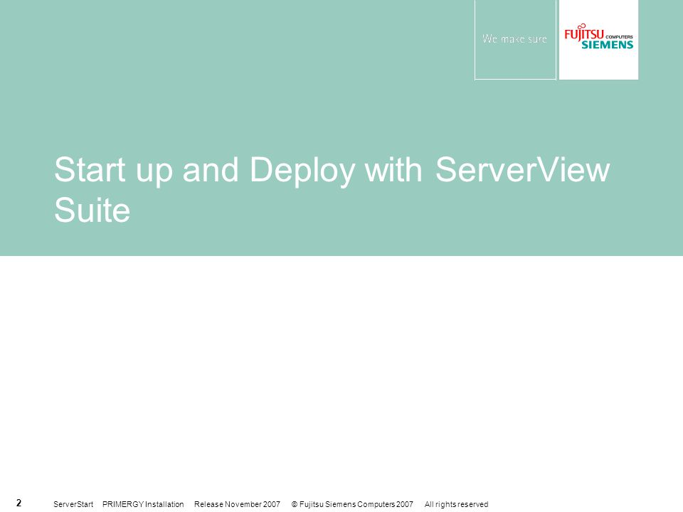 Start up and Deploy with ServerView Suite