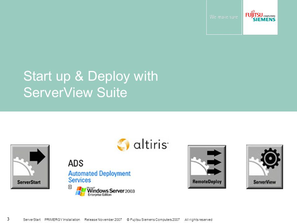 Start up & Deploy with ServerView Suite
