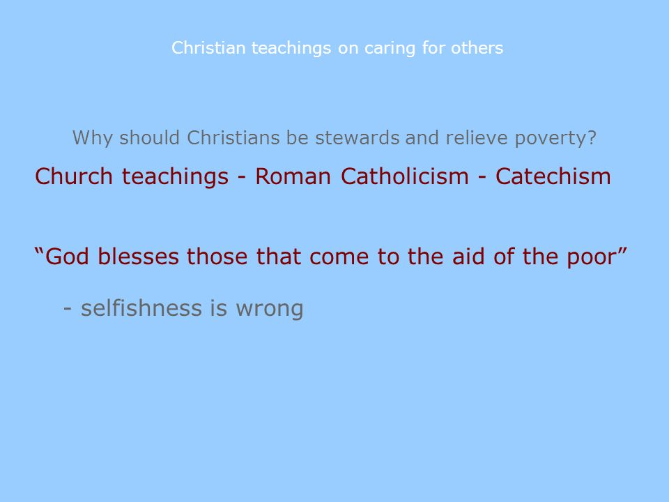 Church teachings - Roman Catholicism - Catechism