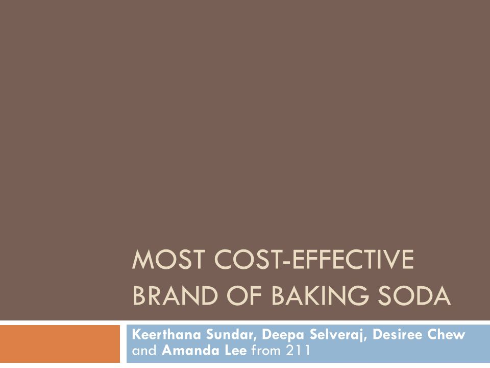 Most cost-effECTIVE brand of baking soda