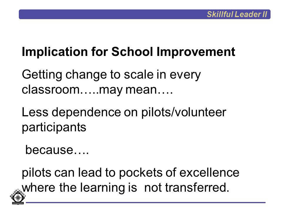 Implication for School Improvement