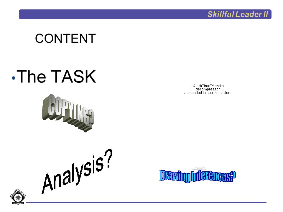 Skillful Leader II CONTENT The TASK Intro Presentation 31 31