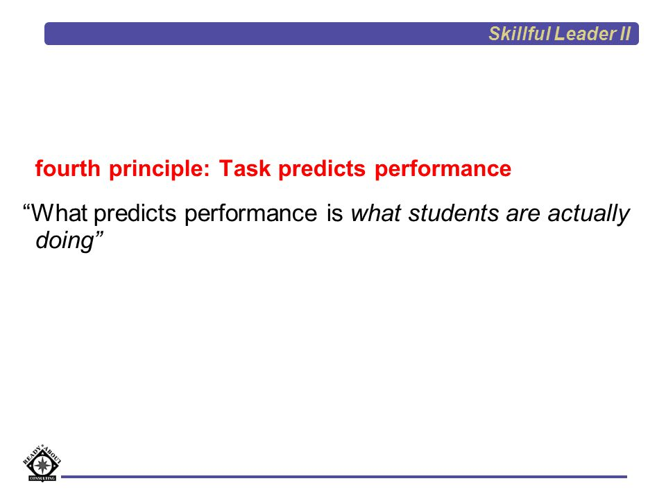 What predicts performance is what students are actually doing