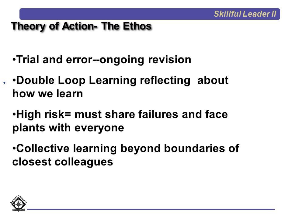 Theory of Action- The Ethos