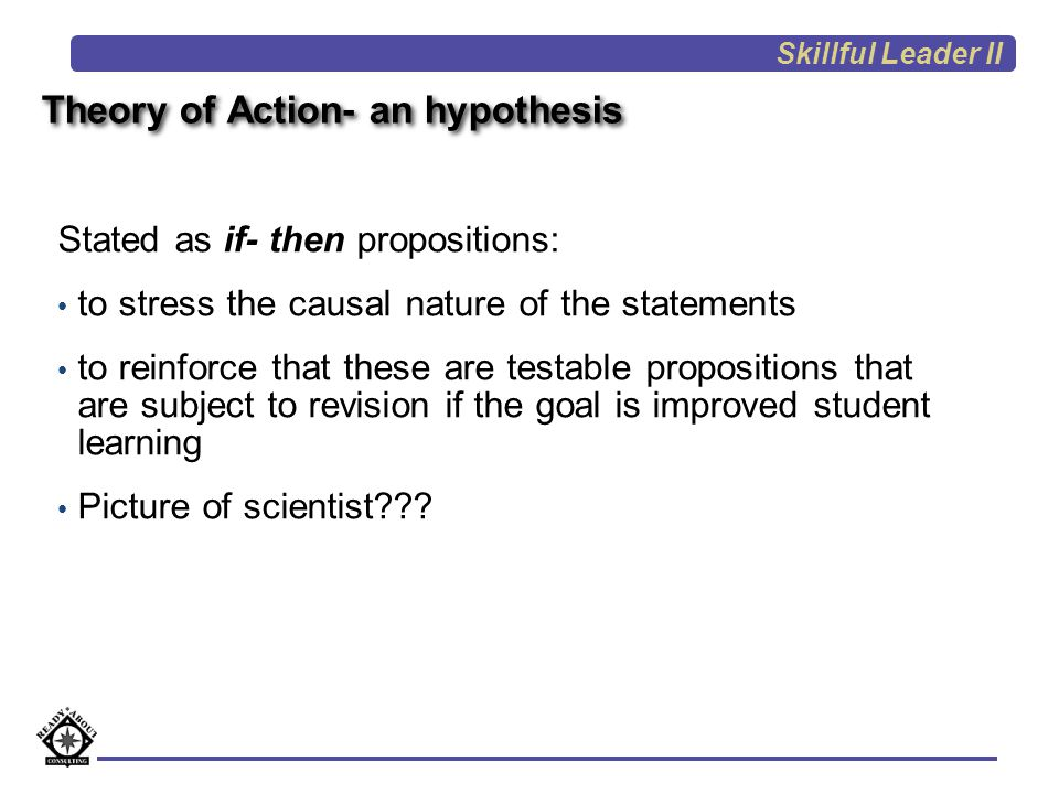 Theory of Action- an hypothesis