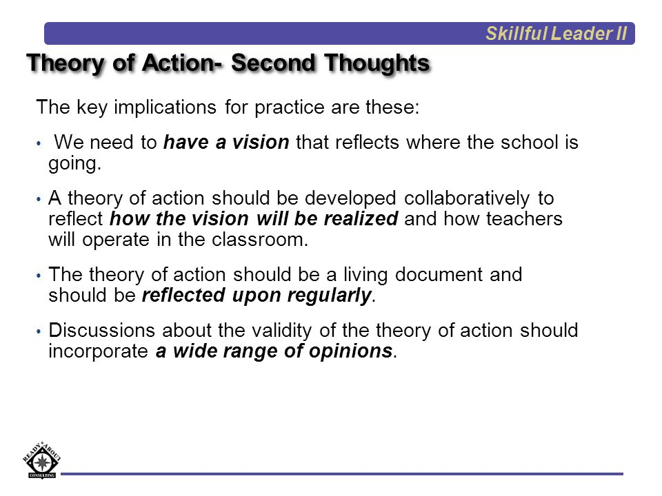 Theory of Action- Second Thoughts