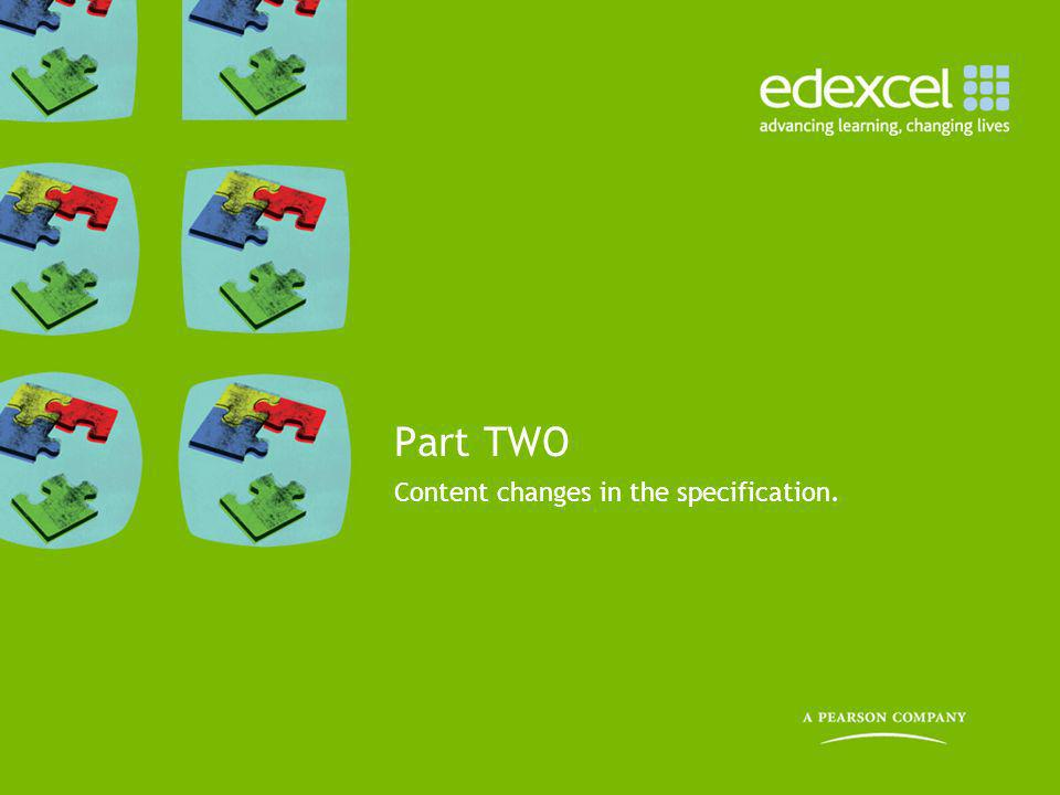 Content changes in the specification.