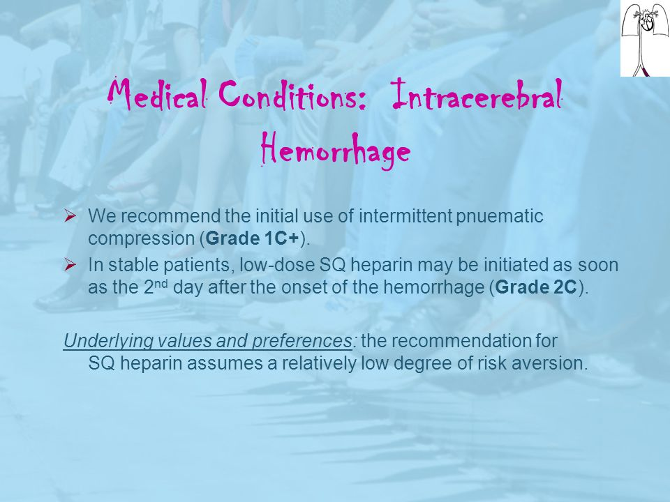 Medical Conditions: Intracerebral Hemorrhage