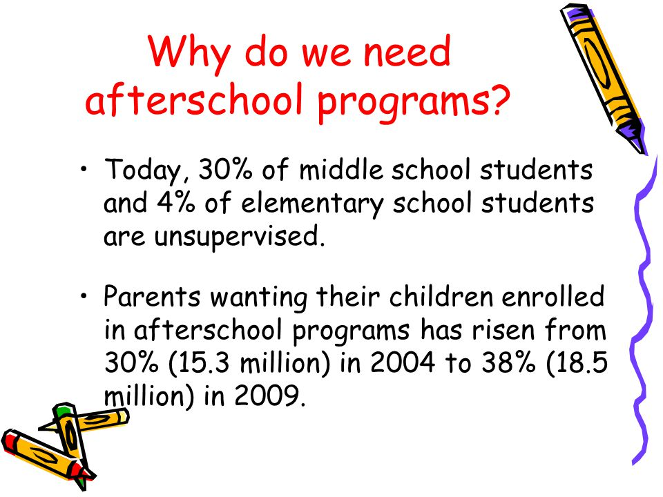 Why do we need afterschool programs