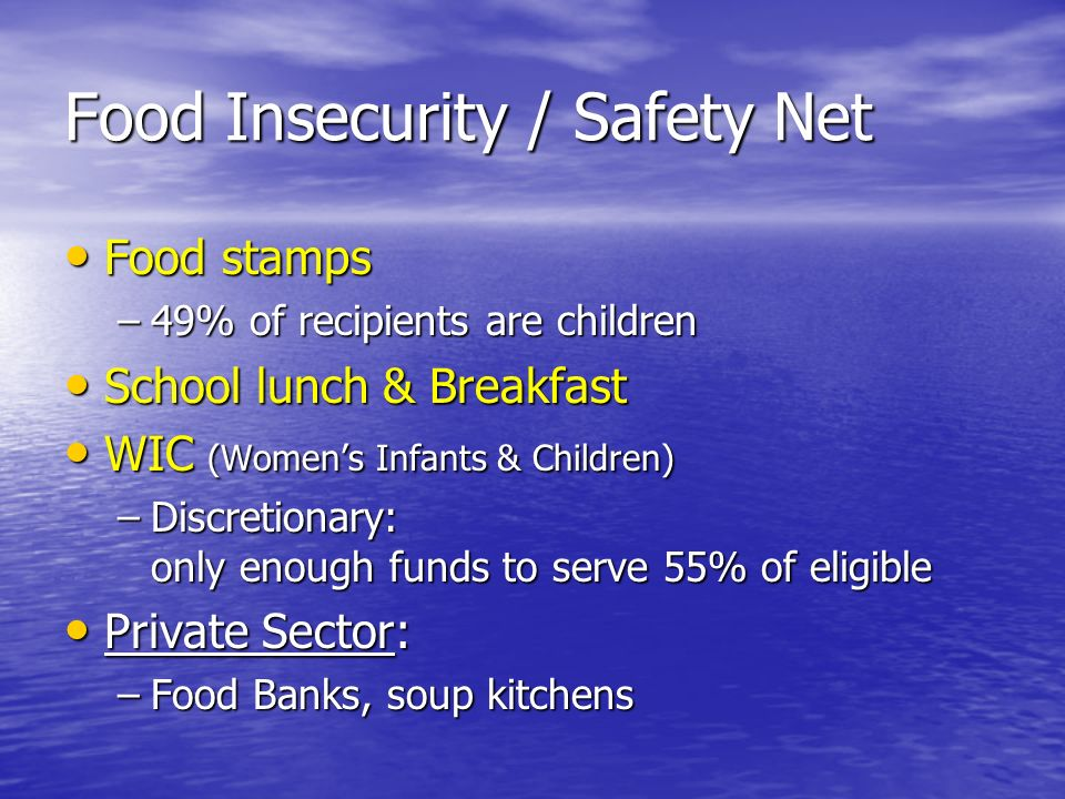 Food Insecurity / Safety Net