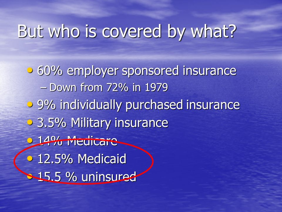 But who is covered by what