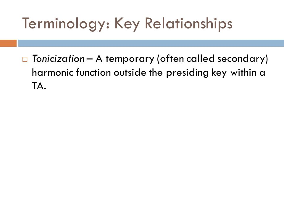 Terminology: Key Relationships