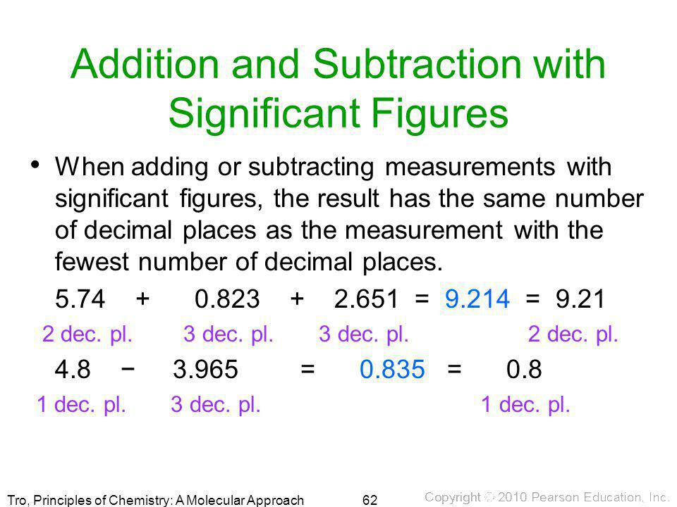 Addition and Subtraction with Significant Figures