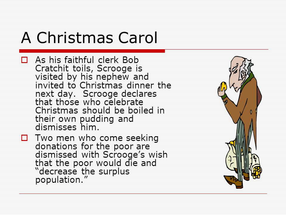 the christmas carol summary