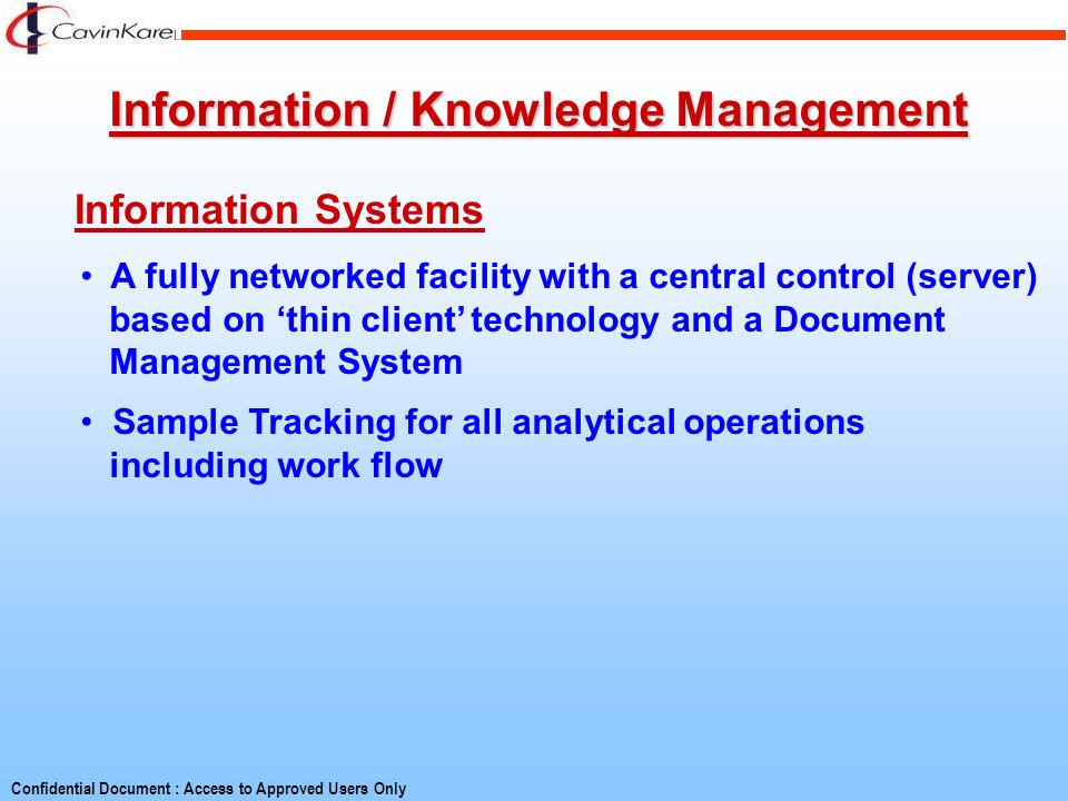 Information / Knowledge Management
