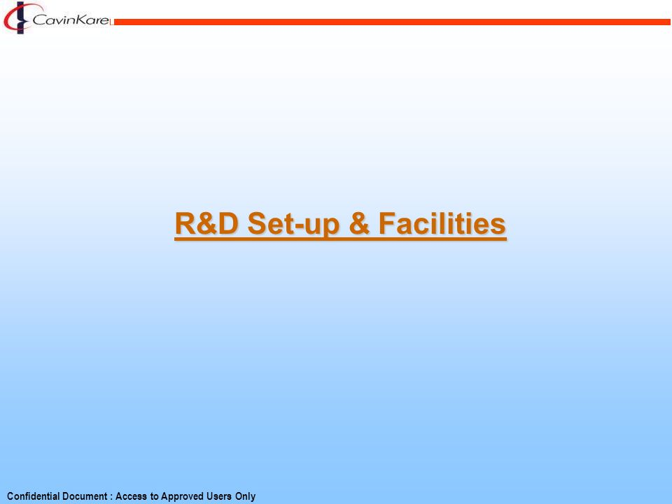 R&D Set-up & Facilities