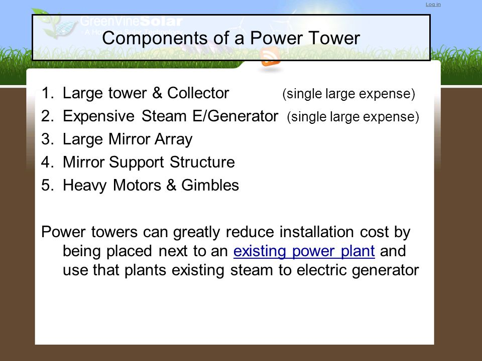 Components of a Power Tower