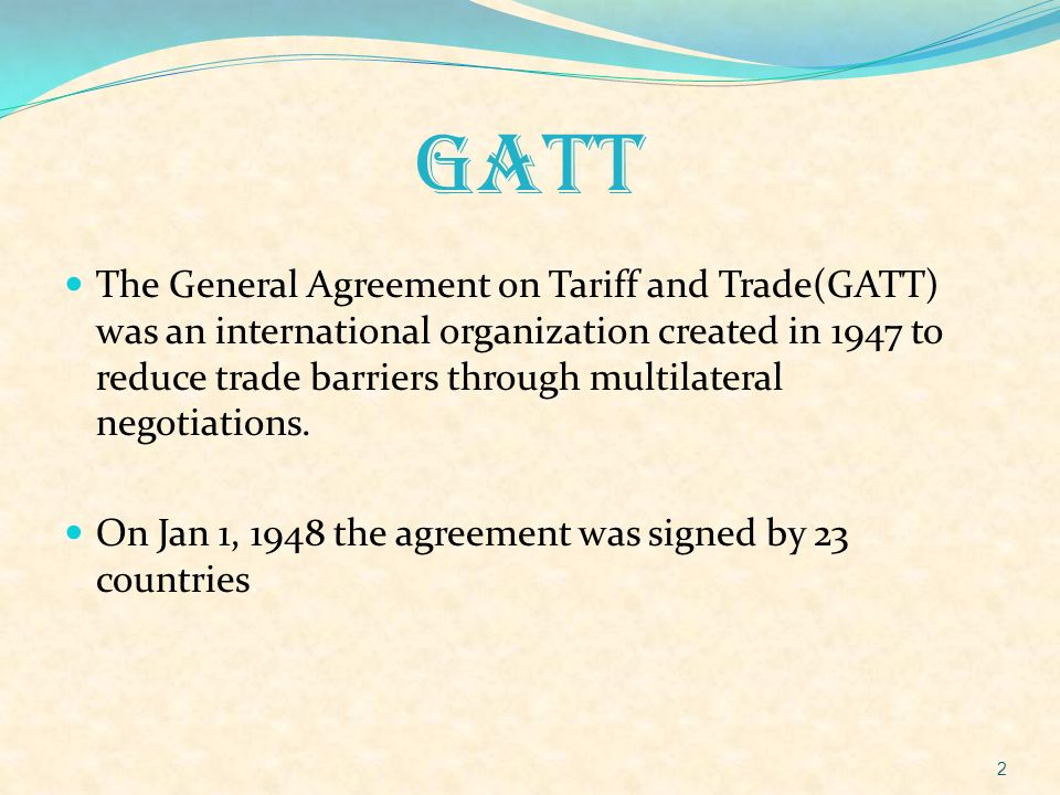 Gatt And Trips Ppt Video Online Download