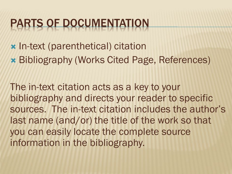 Parts of Documentation