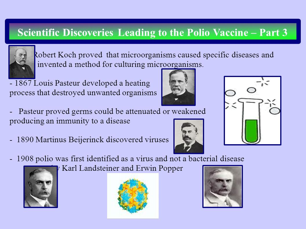 Scientific Discoveries Leading to the Polio Vaccine – Part 3