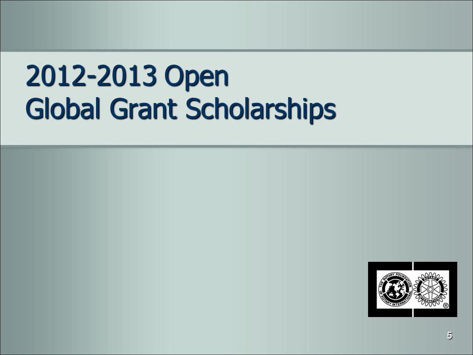2012-2013 Open Global Grant Scholarships