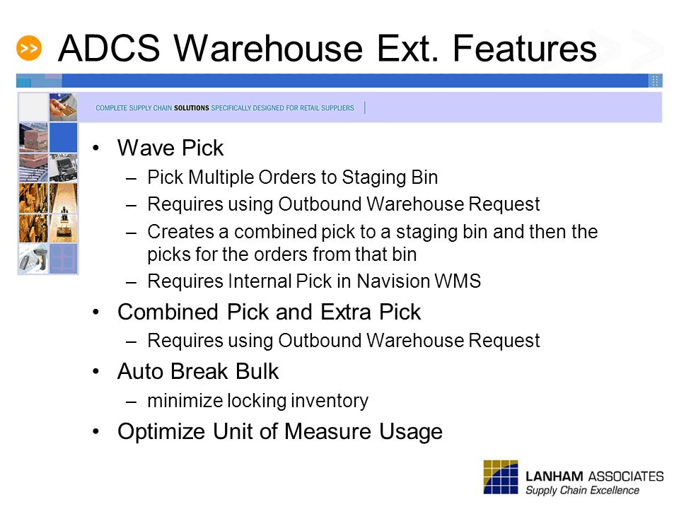 ADCS Warehouse Ext. Features
