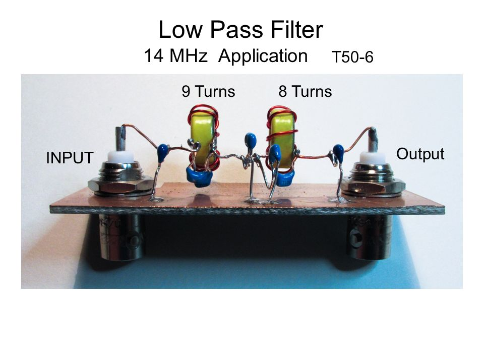 Low Pass Filter 14 MHz Application